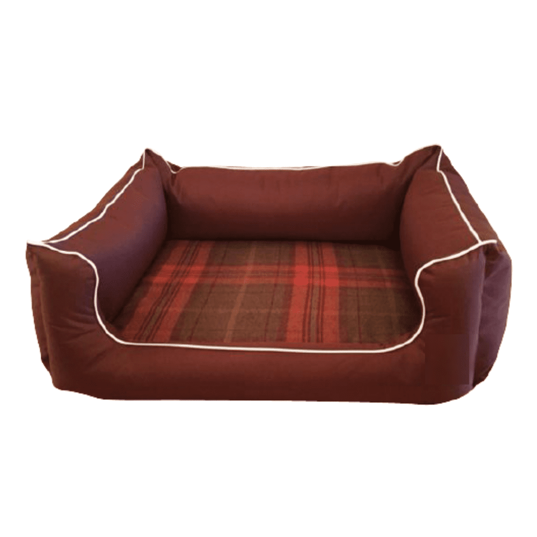 Memory Foam Dog Bed Red